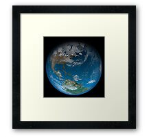 Full Earth featuring North and South America. Framed Print