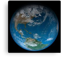 Full Earth featuring North and South America. Canvas Print
