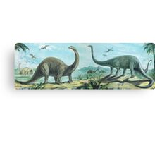 Brontosaurus & Diploducus Frieze Canvas Print