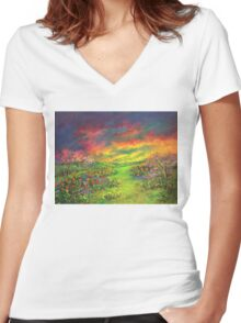 Like A Rainbow They Were Women's Fitted V-Neck T-Shirt