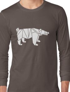 Origami Polar Bear Long Sleeve T-Shirt