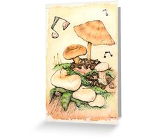 Mushroom Music Greeting Card