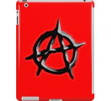 ANARCHY, ANARCHIST, Revolution, Protest, Disorder, Unrest, Symbol on red in black iPad Case/Skin