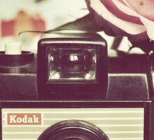 Vintage camera love Sticker
