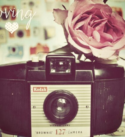 Vintage camera love Sticker