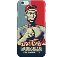 Muay Thai Campion - Nai Khanom Tom iPhone Case/Skin