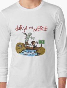 Daryl and Merle Dixon Calvin and Hobbes mash up Long Sleeve T-Shirt