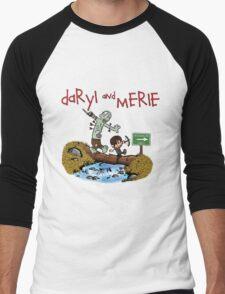 Daryl and Merle Dixon Calvin and Hobbes mash up Men's Baseball ¾ T-Shirt
