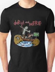 Daryl and Merle Dixon Calvin and Hobbes mash up Unisex T-Shirt