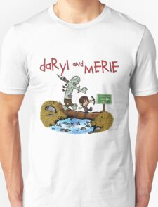 Daryl and Merle Dixon Calvin and Hobbes mash up Unisex T-Shirt