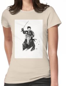 the last samurai riding Womens Fitted T-Shirt