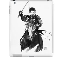 the last samurai riding iPad Case/Skin