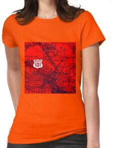 Los Angeles California on the road Womens Fitted T-Shirt