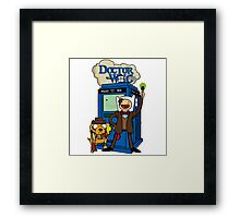 Dr Who Adventure Time Framed Print