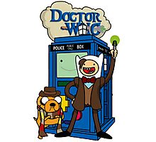 Dr Who Adventure Time Photographic Print