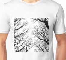 Black and white Winter trees Unisex T-Shirt