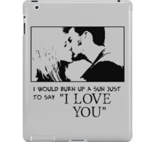 Nerd Valentines: The Doctor loves you! iPad Case/Skin