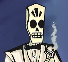 Grim Fandango- Manny Calavera by ink-pocket