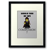 Nerd Valentines: Be my companion! Framed Print