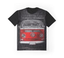 Red combi Volkswagen Half Tone Graphic T-Shirt
