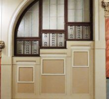 Art Nouveau Window Sticker