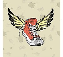 Vintage Sneakers with wings Photographic Print