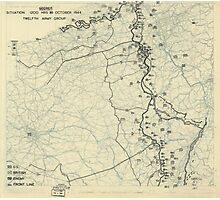 October 30 1944 World War II HQ Twelfth Army Group situation map Photographic Print