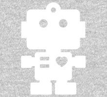 Robot - steel & white One Piece - Short Sleeve