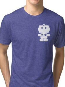 Robot - steel & white Tri-blend T-Shirt