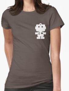 Robot - steel & white Womens Fitted T-Shirt