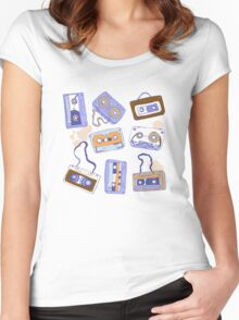 Audio cassette Women's Fitted Scoop T-Shirt