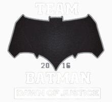 Team Dawn Of Justice Black Kids Tee