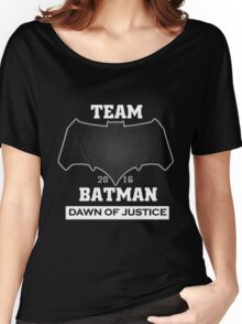 Team Dawn Of Justice Black Women's Relaxed Fit T-Shirt