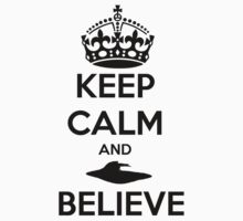 x files keep calm and believe Kids Clothes