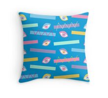 Blue Teichopsia Throw Pillow