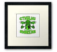 Cthulhu Awakens Framed Print