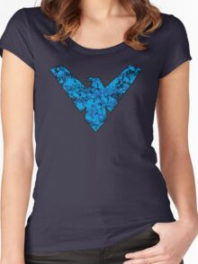 Nightwing - DC Spray Paint Women's Fitted Scoop T-Shirt