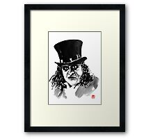 the pinguin Framed Print