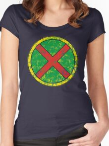 Martian Manhunter - DC Spray Paint Women's Fitted Scoop T-Shirt
