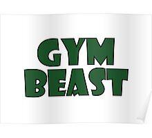 Gym Beast (green) Poster