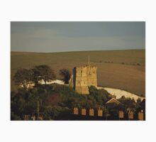 Lewes Castle in evening sun One Piece - Short Sleeve