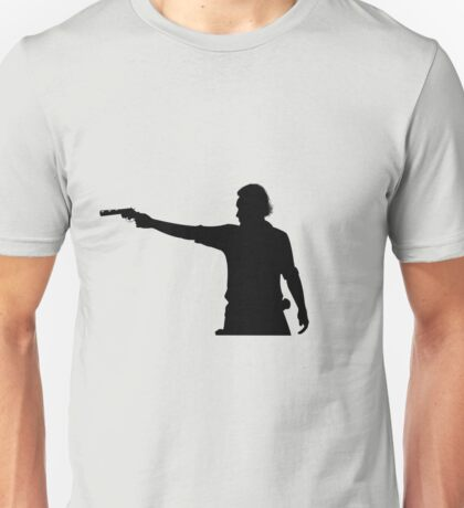 Rick Grimes Aiming Revolver Unisex T-Shirt