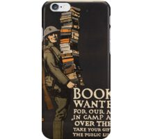 Vintage poster - Books Wanted iPhone Case/Skin
