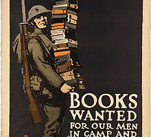 Vintage poster - Books Wanted by mosfunky
