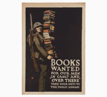 Vintage poster - Books Wanted One Piece - Long Sleeve