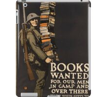 Vintage poster - Books Wanted iPad Case/Skin