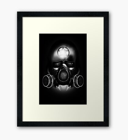 Metal Apocalypse - Black and White Framed Print