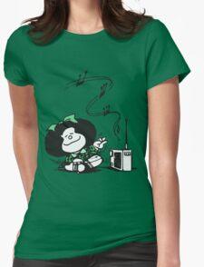 Mafalda Music Womens Fitted T-Shirt