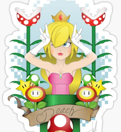 PEACH Sticker