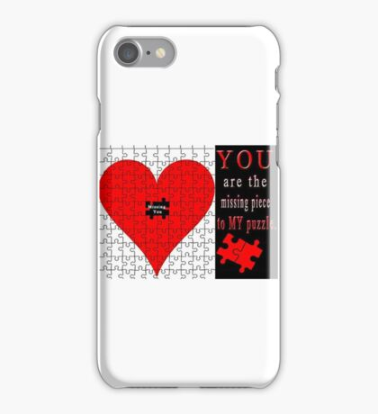 *MISSING PIECE APPAREL* iPhone Case/Skin